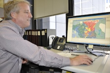 Fort Worth District's Water Resource Chief, Jerry Cotter operates the RiverWare program. The program helps to forecast a variety of scenarios such as historical droughts and floods to simulate a variety of hydrological conditions.