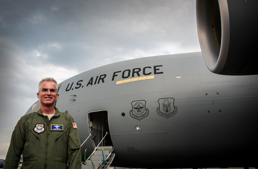 Gen. Paul Selva, Air Mobility Command commander, delivers a new C-17 Globemaster III April 25, 2013, at Joint Base Charleston – Air Base, S.C. Joint Base Charleston is scheduled to receive two additional C-17s this year, as Boeing completes work on the Air Force's final Globemasters. The first C-17 to enter the Air Force's inventory arrived at Charleston Air Force Base in June 1993. The C-17 is capable of rapid strategic delivery of troops and all types of cargo to main operating bases or directly to forward bases in the deployment area. (U.S. Air Force photo/ Senior Airman Dennis Sloan)