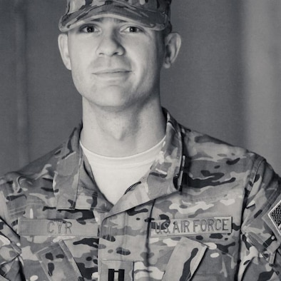 Capt. Brandon Cyr, 28, a KC-135 instructor pilot, was among four crewmembers on board an MC-12 who were killed April 27 when their aircraft crashed in the Zabul province in southern Afghanistan. Cyr was a member of the 906th Air Refueling Squadron within the 375th Air Mobility Wing, its parent unit for administrative purposes. However, he flew alongside members of the Illinois Air National Guard's 126th Air Refueling Wing as part of the Air Force's Total Force Integration efforts, and as a result, the loss is deeply felt by members in both wings here, said Col. David Almand, 375th AMW commander. (courtesty photo)