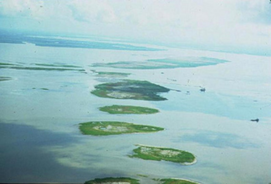 Atchafalaya Bay 1972 - Bird Islands