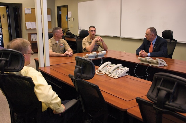 Brig. Gen. Robert F. Castellvi, commanding general, Marine Corps Installations East, visited Marine Corps Logistics Base Albany July 25-26 in his first official visit to a base since taking command of MCIEAST, July 12.