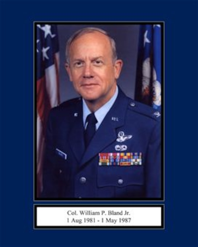 Portrait of Col. William P. Bland Jr. 165th Airlift Wing Commander 1 Aug 1981 - 1 May 1987