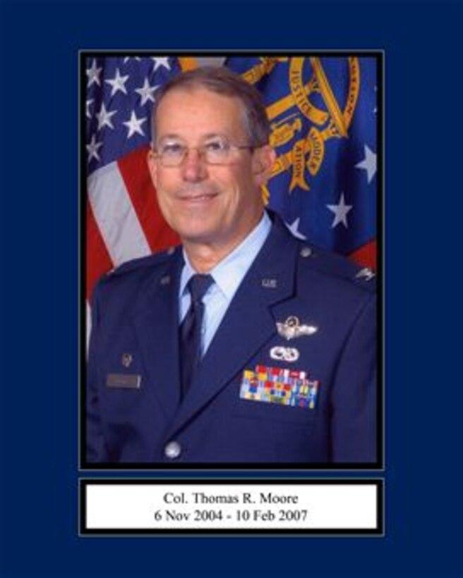 Portrait of Col. Thomas R. Moore 165th Airlift Wing Commander 6 nov 2004 - 10 Feb 2007