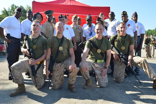 Marines run in honor of the Montford Point Marines ...