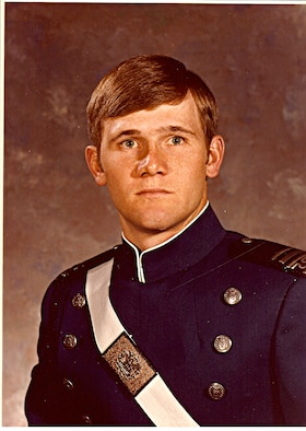 JOINT BASE SAN ANTONIO - RANDOLPH, Texas -- Lt. Gen. Douglas Owens, Air Education and Training Command vice commander, a 1980 Air Force Academy graduate poses for his senior picture. (Courtesy Photo)