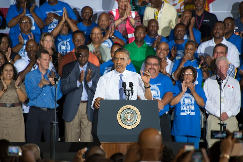 President Barack Obama chose JAXPORT as a backdrop July 25 to deliver his vision for future economic growth.