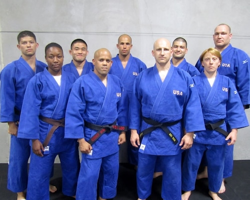 Members of the 2013 Armed Forces Judo Team from left to right:
