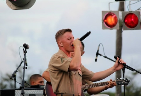 "On 26 July 2013, the MarForPac Show Band performed for the Klipper Bash aboard MCBH Kaneohe Bay. Newly promoted Cpl Byran D. Sitka sings ""I Will Wait"" by Mumford & Sons."
