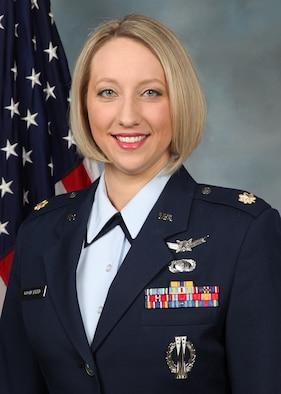 Maj. Allison S. Goodspeed, 21st Space Operations Squadron Detachment 1 commander