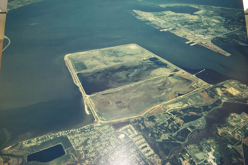 """Craney Island Dredged Material Management Area (CIDMMA), also known as Craney Island, is the """"Jewel in the Port of Hampton Roads."""" Since its construction in 1957, Craney Island's centralized location provides a low-cost placement option for material dredged from Hampton Roads navigation channels, as well as from private dredging projects."""