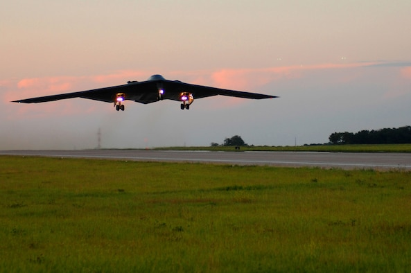 In 2008, the 131st Bomb Wing achieved another major milestone by completing the first B-2 sortie flown and launched by Missouri Air National Guard personnel from Whiteman Air Force Base, Mo, June 18. The 131st BW is the nation's only Guard unit to fly and maintain the B-2 Spirit.(U.S. Air Force photo/Senior Airman Jessica Snow)