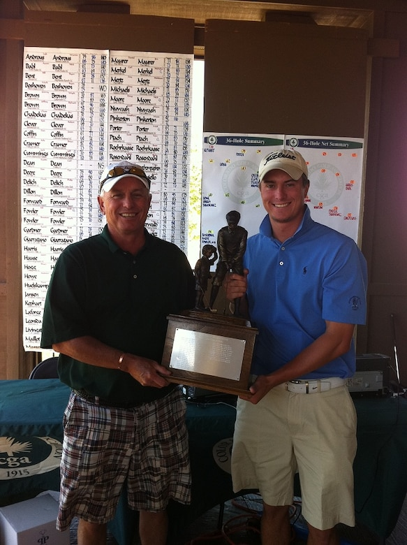 Alex Kephart, right, with his father, Gary Kephart. Gary will caddie for his son at the 2013 U.S. Amateur Championship Aug. 12. (U.S. Air Force/Courtesy Photo)