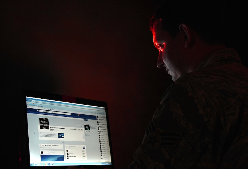 Operational security is an important factor Airmen should consider in everything they do. Whether calling loved ones, skyping with family or chatting with friends on Facebook Airmen should be aware that the enemy maybe listening and watching as well. (U.S. Air Force illustration by Staff Sgt. Eric Summers Jr.)