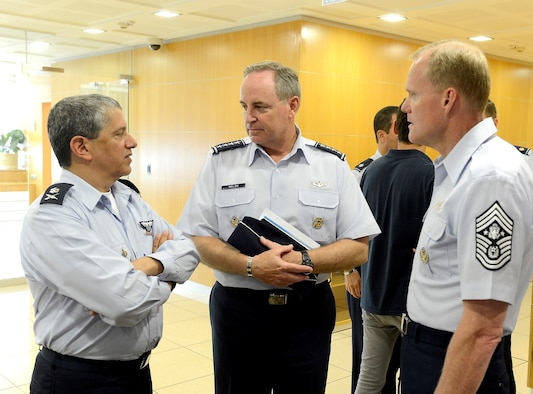 Air Force Chief of Staff Gen. Mark A. Welsh III (center), and Chief Master 