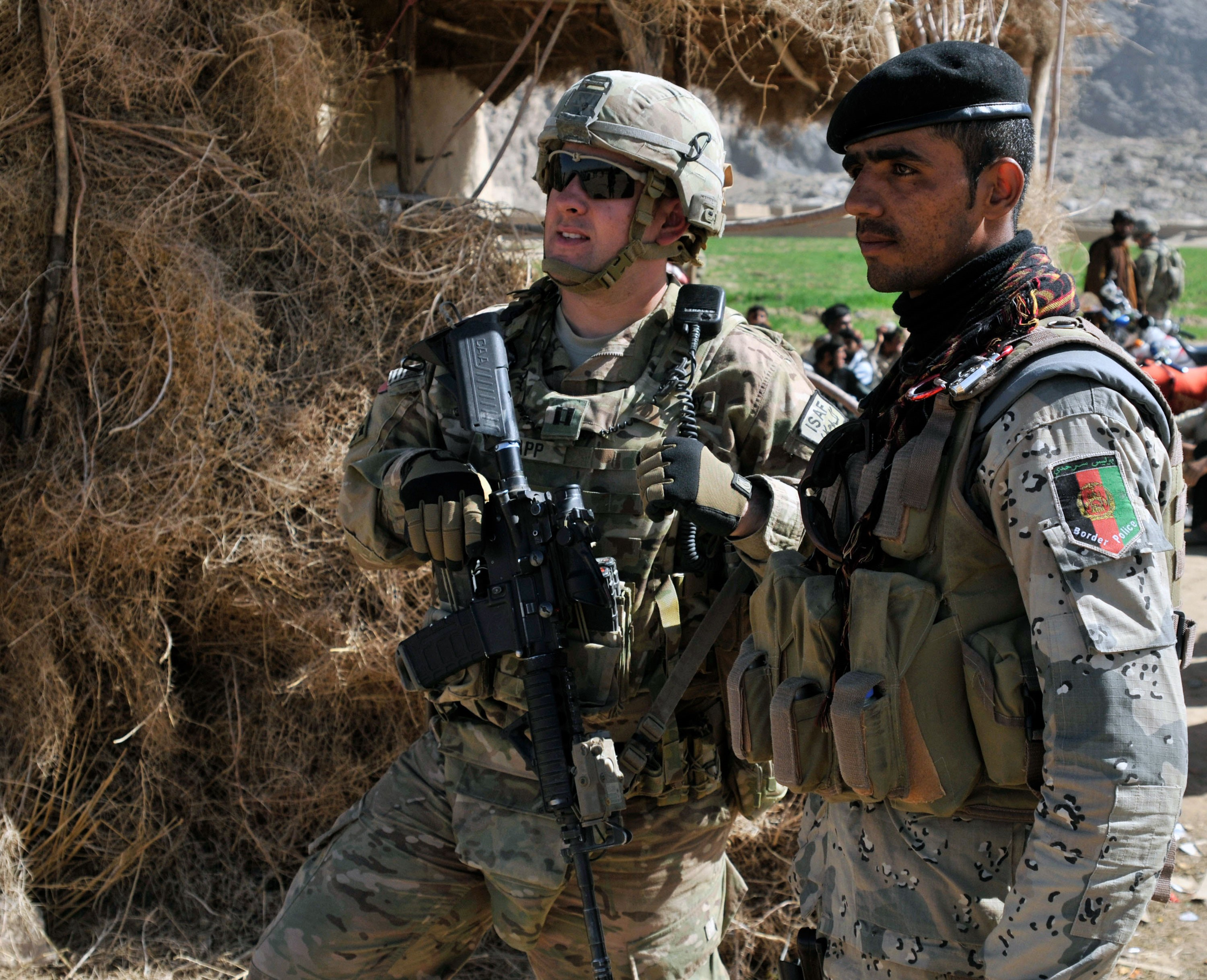 Texas Army Guard Members Assisting Afghan Forces During