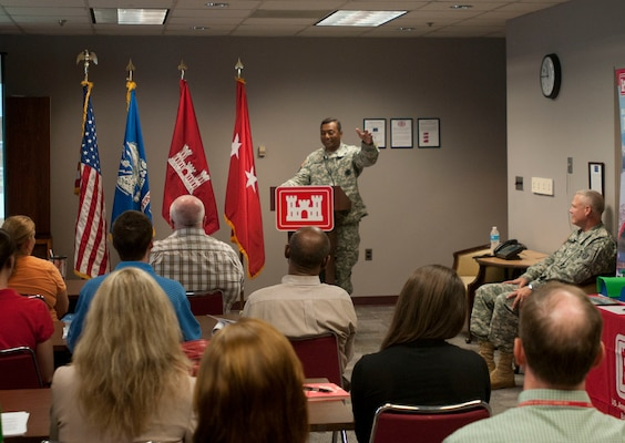 USACE Commanding General and Chief of Engineers Lt. Gen. Bostick addresses Baltimore District employees about the importance of STEM outreach.