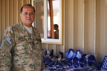 """Siamak """"Mak"""" Araghi is deployed in Afghanistan and it's the little pieces of home that he has with him that keep him going."""