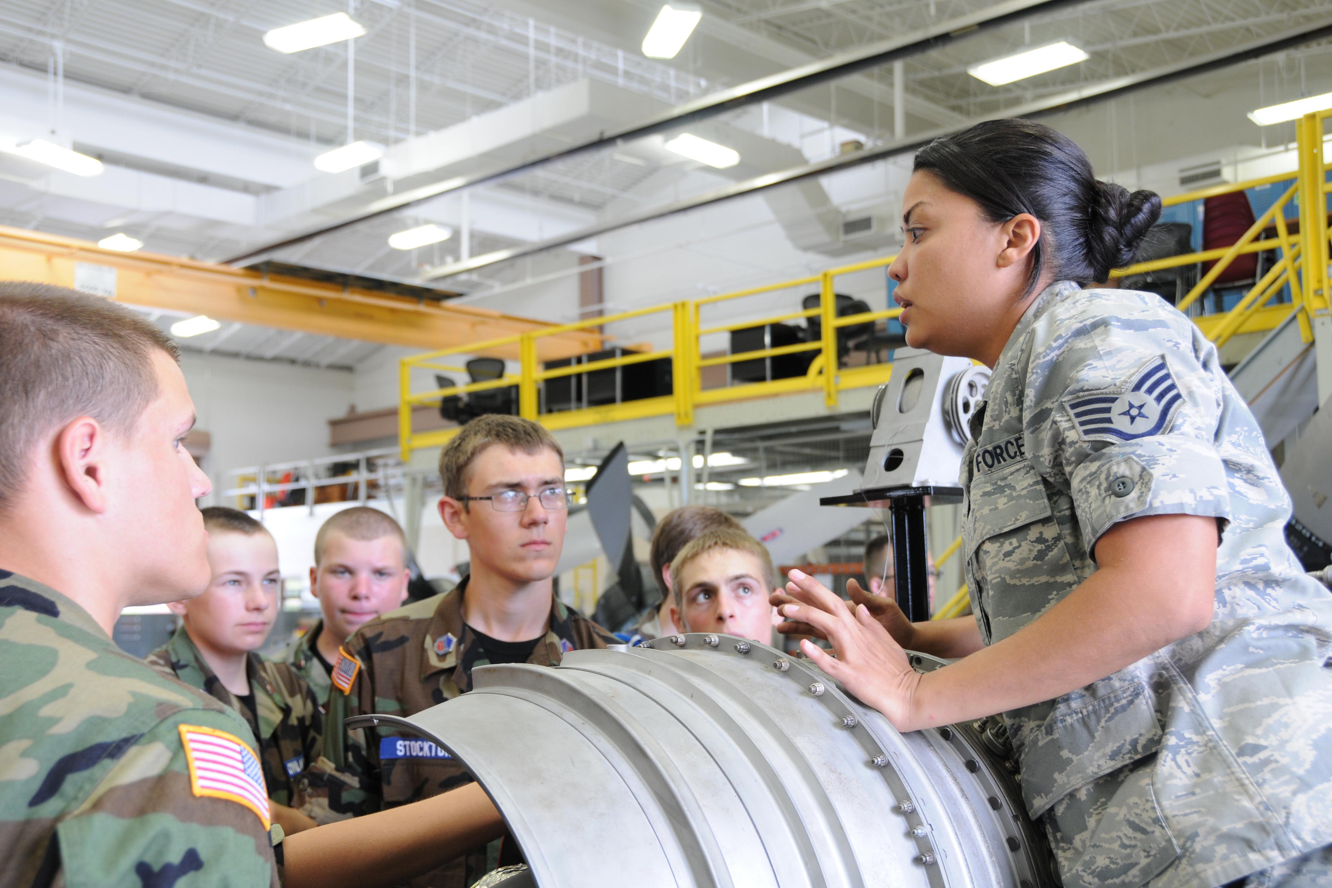 Civil Air Patrol visits YARS for military