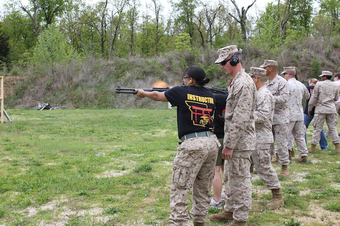 Military Spouses on the Shotgun range.
