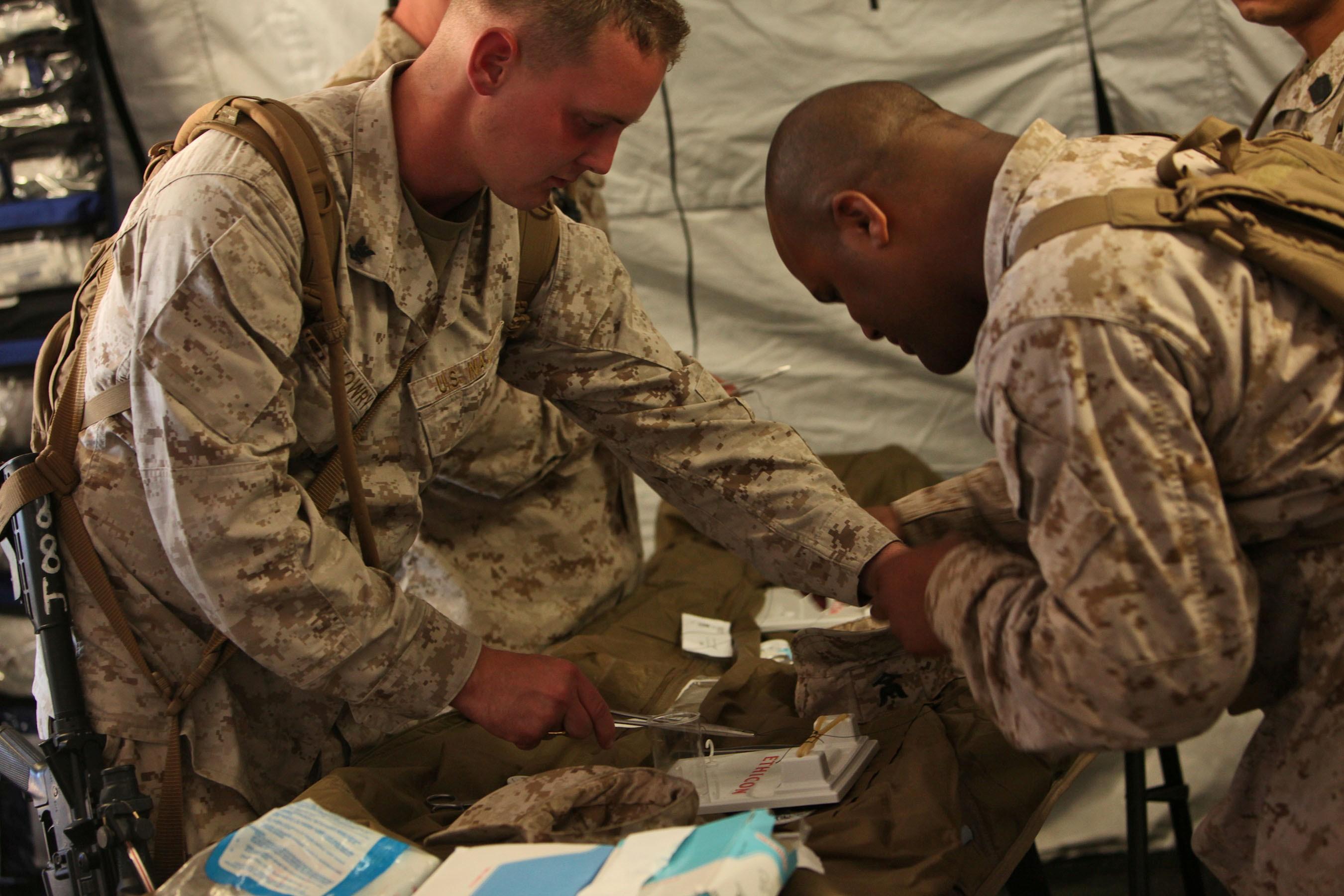 medical battalion conducts pre deployment training 1st marine