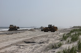 The U.S. Army Corps of Engineers restored the beaches of Avalon and Stone Harbor from erosion associated with Hurricane Sandy in the spring and summer of 2013. The project is designed to reduce to damages from coastal storms.