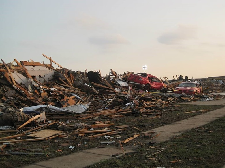 A tornado leveled a home in Moore, Okla., when it touched down May 20, 2013. (U.S. Air Force photo/Staff Sgt. Brandi Smith)