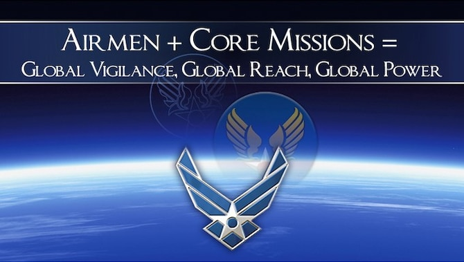 Airmen + Core Missions = Global Vigilance, Global Reach, Global Power