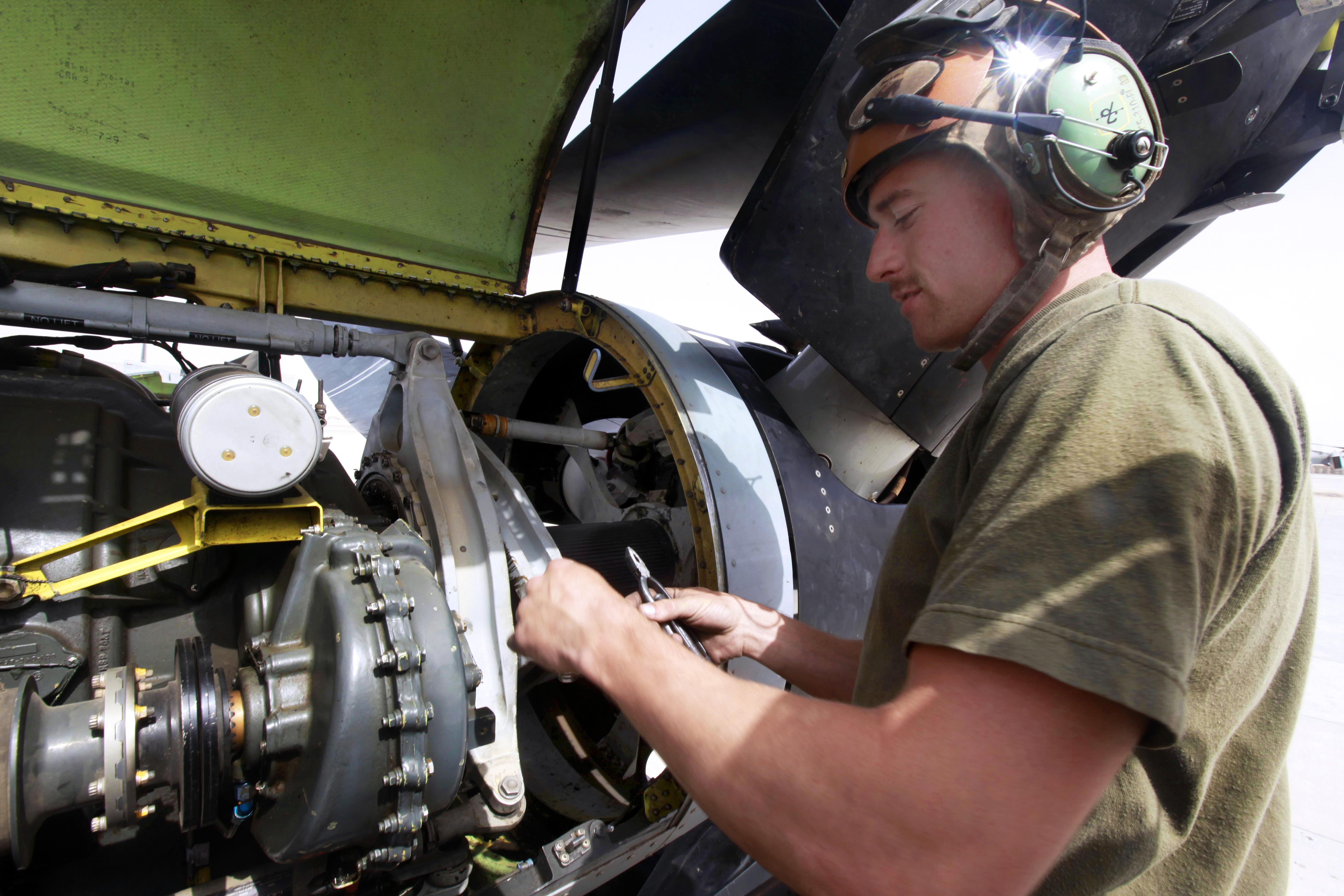 Marine corps aviation mechanic
