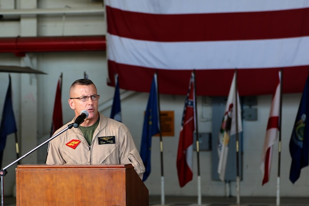 Maj. Gen. Robert F. Hedelund, the commanding general of 2nd Marine Aircraft Wing, debuts the F-35B Lightning II Joint Strike Fighter to the Beaufort, S.C. community during a showcase of the aircraft aboard Marine Corps Air Station Beaufort, Aug. 20. The F-35 will replace the Marine Corps' aging legacy tactical fleet providing the dominant, multi-role, fifth-generation capabilities needed across the full spectrum of combat operations to deter potential adversaries and enable future naval aviation power projection. MCAS Beaufort is expected to receive the aircraft in 2014 along with Marine Fighter Attack Training Squadron 501, the Marine Corps' first F-35B training squadron, which falls under the command of Marine Aircraft Group 31 aboard MCAS Beaufort.