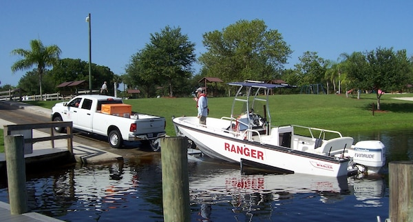 Course participants learned the proper procedures for launching and retrieving a boat.