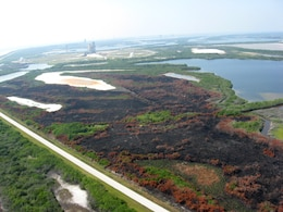 A pad fire between two NASA space shuttle launch pads at Kennedy Space Center in May 2011 was sparked by a lightning strike in the Merritt Island National Wildlife Refuge. Prescribed burns occur regularly at the MINWR to reduce hazardous fuel loads, reduce encroachment of woody vegetation and to replenish nutrients to the soil.  Potential UAS flights would assist with not only wildlife and environmental data collection, but also prescribed burn support.