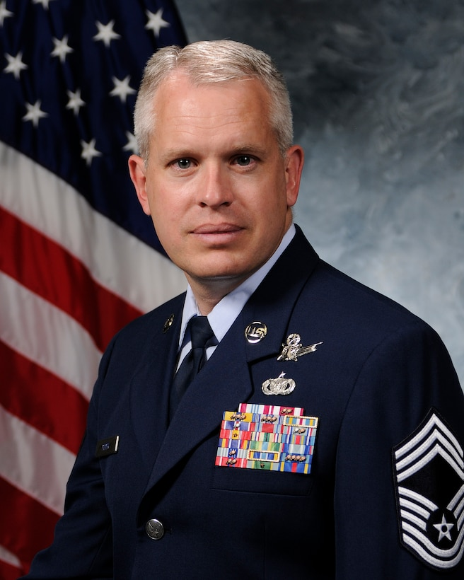 Chief Master Sgt. Douglas Perry, 50th Operations Group superintendent
