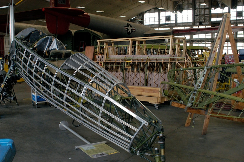 DAYTON, Ohio (08/2013) -- The Stearman PT-13D Kaydet is undergoing restoration. Plans call for the aircraft to be part of an expanded Tuskegee Airman exhibit in the World War II Gallery at the National Museum of the U.S. Air Force. (U.S. Air Force photo)