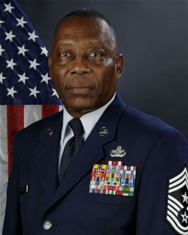 U.S. Air Force Chief Master Sgt. Robert E. Davis, Command Chief Master Sgt. for the 169th Fighter Wing at McEntire Joint National Guard Base, South Carolina Air National Guard, poses for his portrait, August 21, 2013.  (U.S. Air National Guard photo by Tech. Sgt. Caycee Watson/Released)