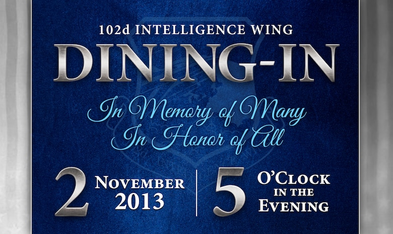 102nd Intelligence Wing Dining-In