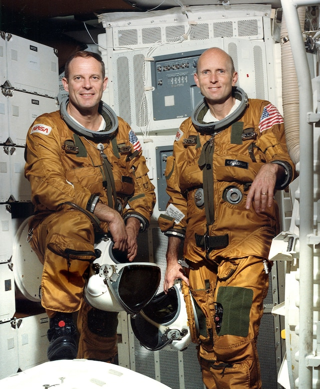 The crew of STS-3 was Commander Jack Lousma and Pilot C. Gordon Fullerton. Fullerton passed away Wednesday, Aug. 21, at the age of 76.
