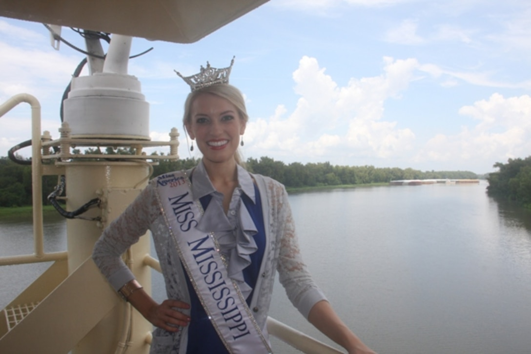 Miss Mississippi 2013 Chelsea Rick was a special guest of the Mississipi River Commission.