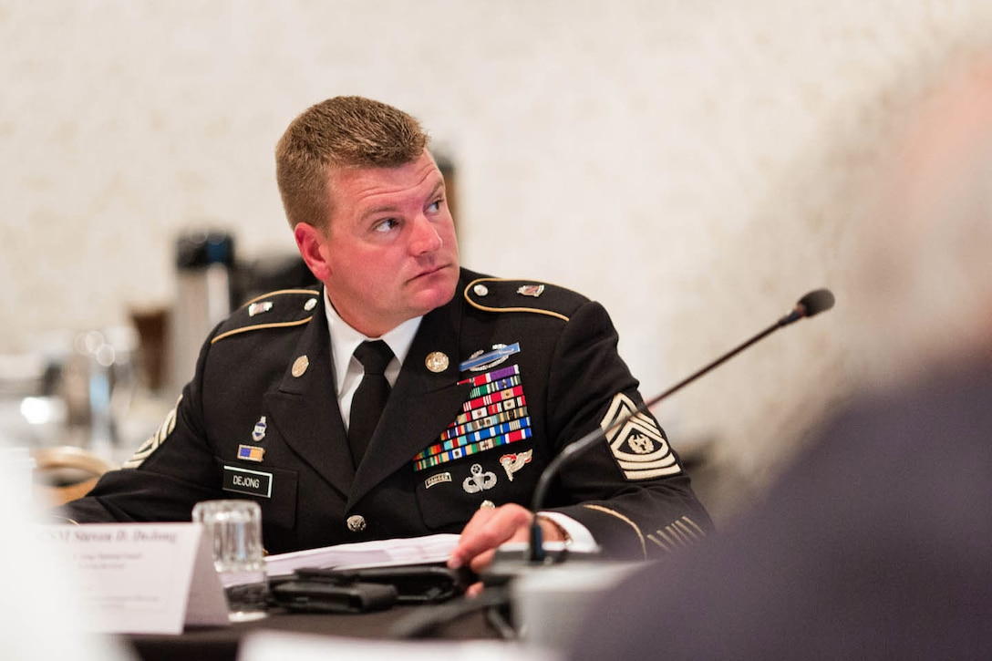 DoD Member, CSM Steven D. DeJong (U.S. Army National Guard)