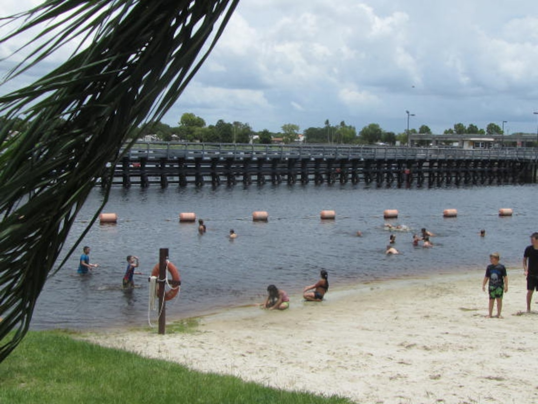 Swimmers cooled down at the W.P. Franklin swim beach while enjoying a sunny July 4th weekend.