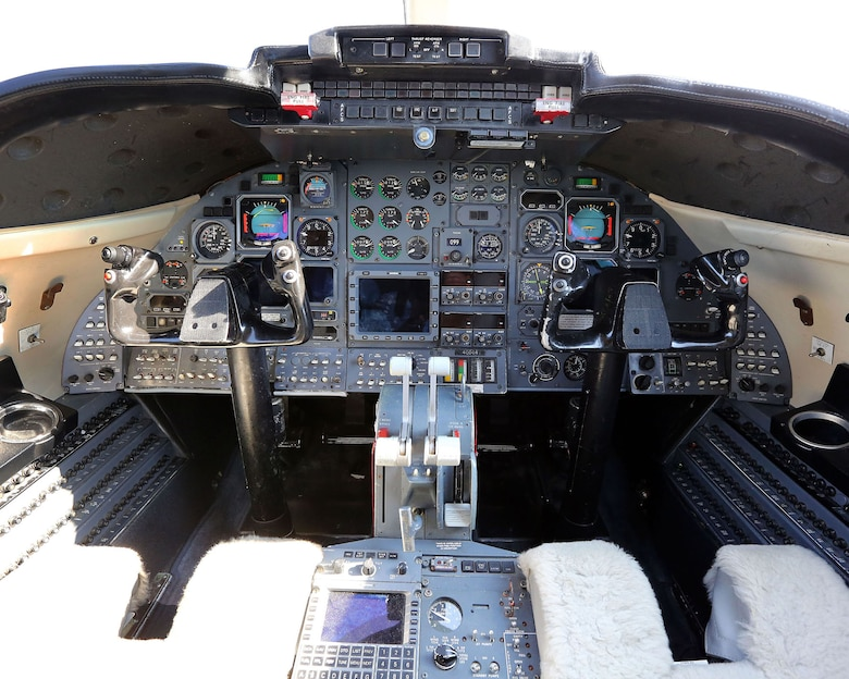 DAYTON, Ohio -- Learjet C-21A cockpit at the National Museum of the U.S. Air Force. (U.S. Air Force photo by Don Popp)