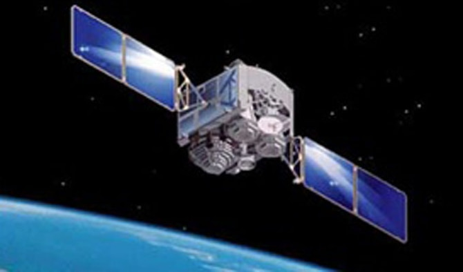 An artist's depiction of a Defense Satellite Communications System satellite on orbit is shown. The 3rd Space Operations Squadron celebrated the 20th anniversary of DSCS B-10's launch Nov. 28, 2013. (Courtesy graphic)