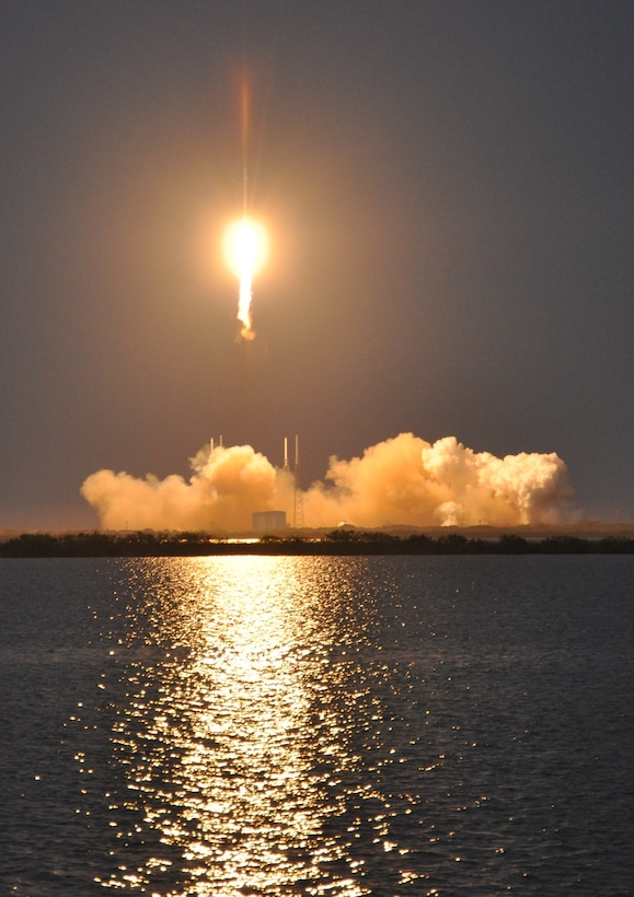 The 45th Space Wing provided flawless Eastern Range support as Space Exploration Technologies (SpaceX) completed a successful launch of the SES-8 communications satellite from Launch Complex 40 here at 5:41 p.m. Dec. 3. (Courtesy Photo)