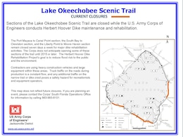 Lake Okeechobee Scenic Trail Closures as of Dec. 4, 2013