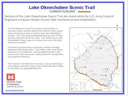 Lake Okeechobee Scenic Trail Closures as of Dec. 4, 2013