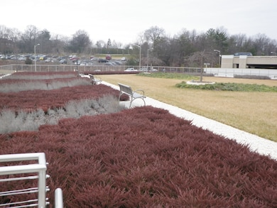 Green roof at Army National Guard Readiness Center, Arlington, Virginia.