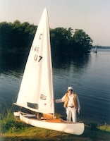 Enge enjoyed canoe sailing near his home on the St. Johns River.
