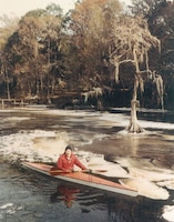 Even ice couldn't keep Enge out of his kayak when parts of the St. Johns River froze.