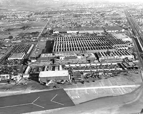 The Los Angeles District was tasked with a seemingly impossible mission in the wake of the bombing of Pearl Harbor by Japanese forces on Dec. 7, 1941: To camouflage acres upon acres of Los Angeles real estate where military aircraft were being built.  Lockheed Aircraft's Burbank factory before the District was done with its groundbreaking camouflage project. (Photos courtesy of Lockheed via thinkorthwim.com)