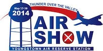 This is the official logo design of the 2014 Thunder Over the Valley Air Show, scheduled for May 17-18, 2014, at Youngstown Air Reserve Station. The show is scheduled to feature the U.S. Air Force Thunderbirds aerial demonstration team as the headline act. (U.S. Air Force art/Mr. Eric M. White)