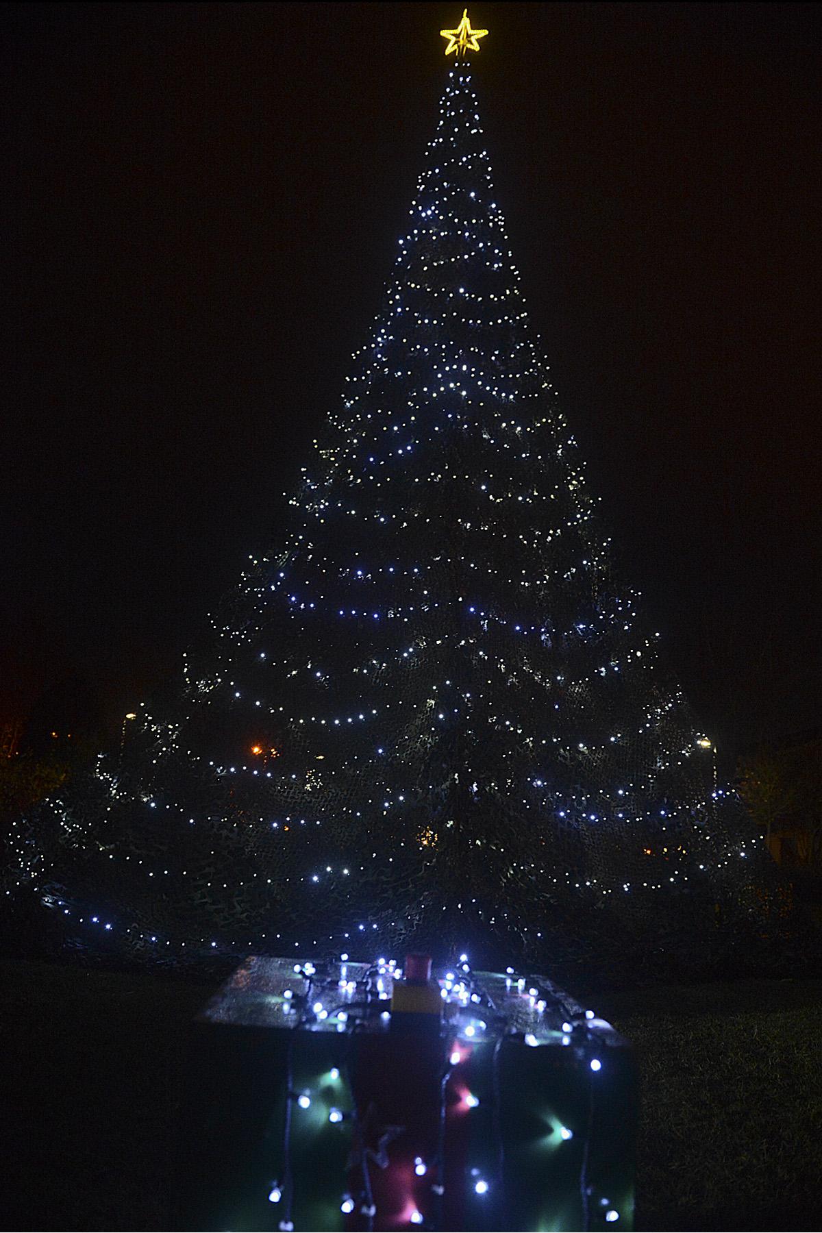 England Christmas Tree.Wing Christmas Tree Spreads Holiday Spirit Savings